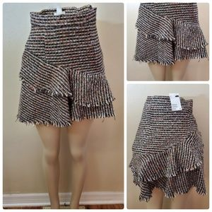 NWT H&M Tweed Tiered Mini Skirt